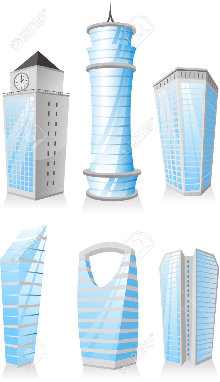 Cartoon Skyscrapers Tower Skyscraper Apartment Penthouse Edifice.