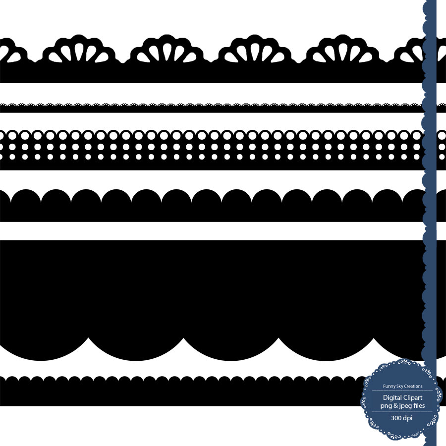 Scalloped Edge Clipart.