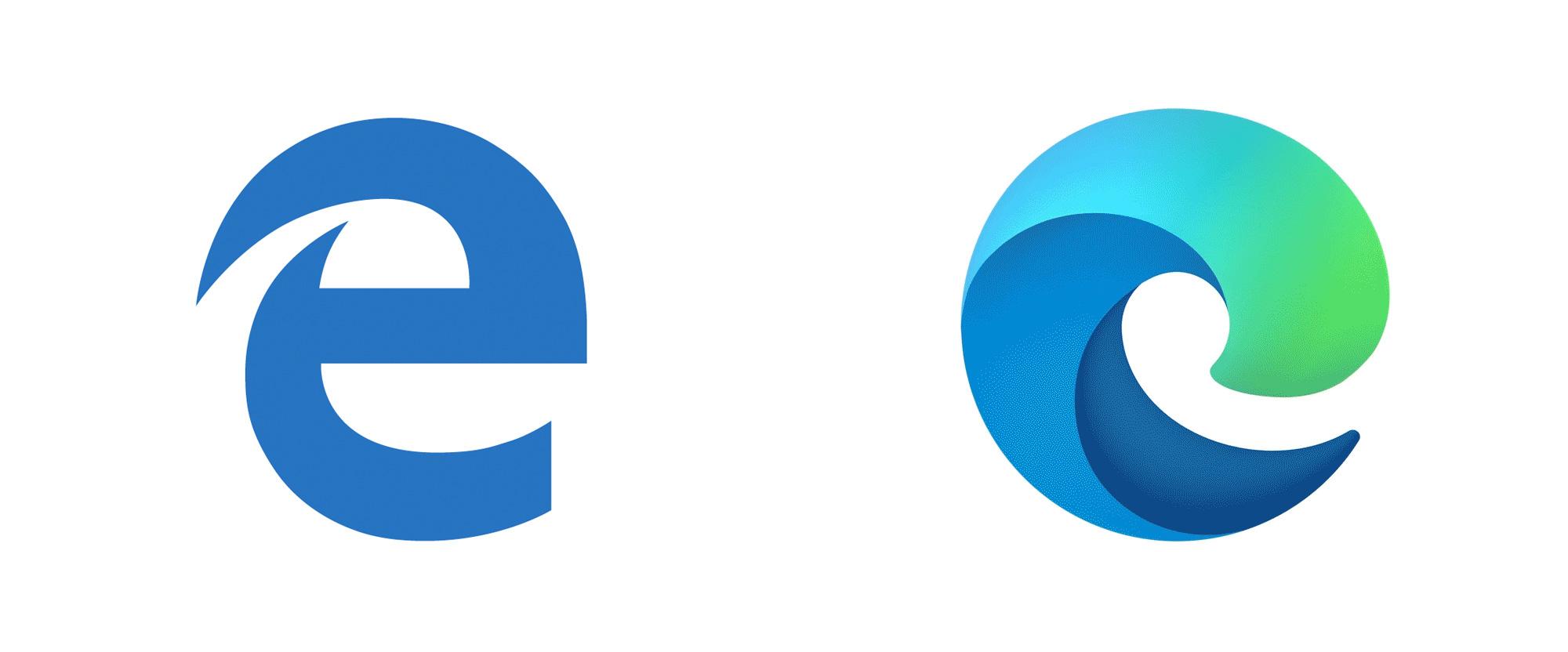 Brand New: New Logo for Microsoft Edge.
