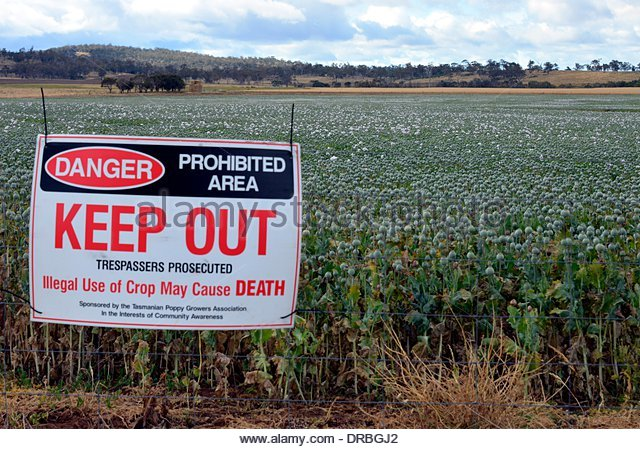 Warning Sign On Edge Field Stock Photos & Warning Sign On Edge.