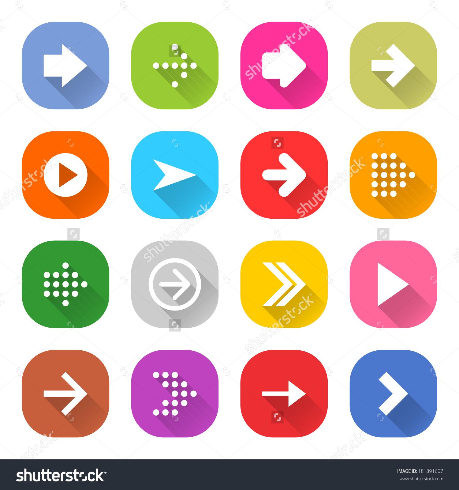 Solid color round edge square clipart free.
