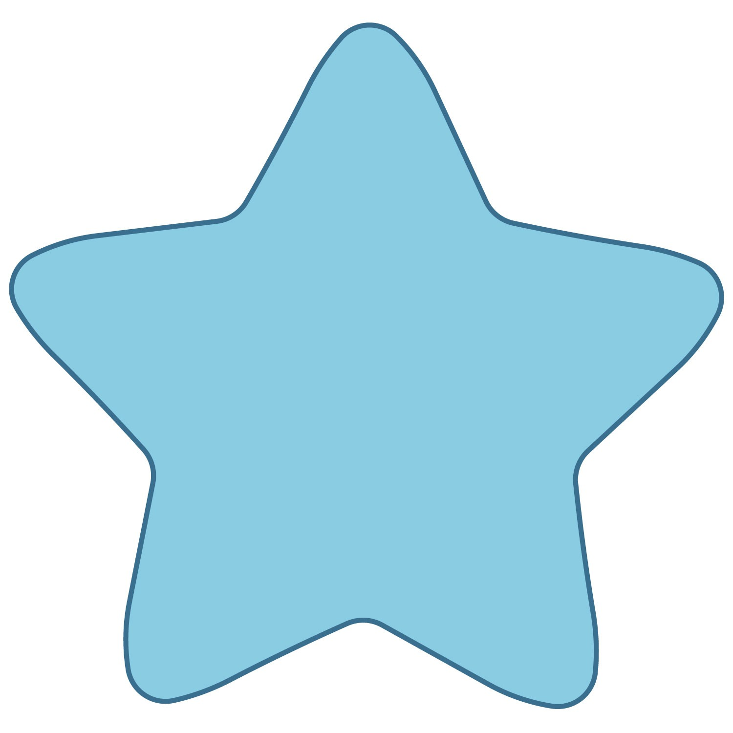 Star Rounded Edges Clipart.