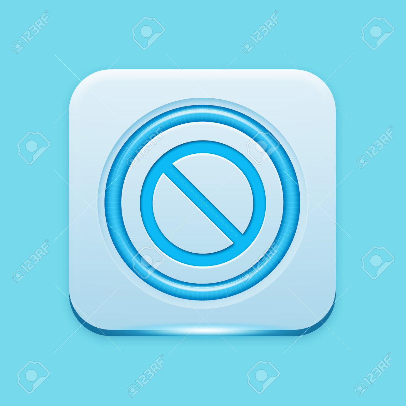 Blue Icon Edge Light Stock Photo, Picture And Royalty Free Image.