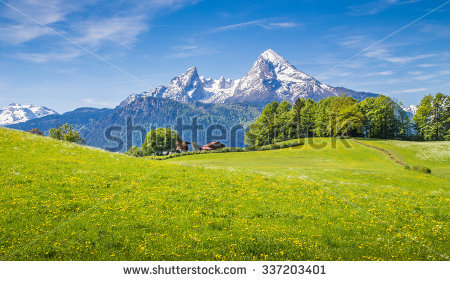 Alps Summer Stock Photos, Royalty.