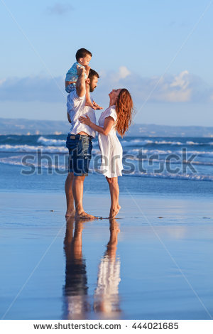 Happy Family Father Mother Baby Son Stock Foto 317373431.