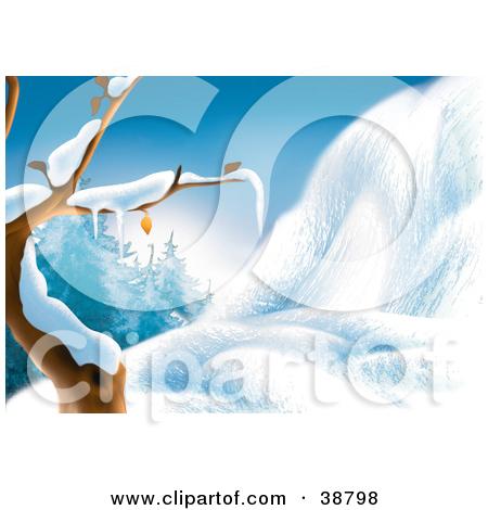Clipart of White Snow Splatter, Edge and Background Design.