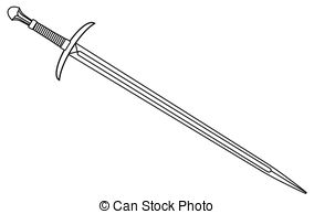 Double edged sword Vector Clipart Royalty Free. 23 Double edged.