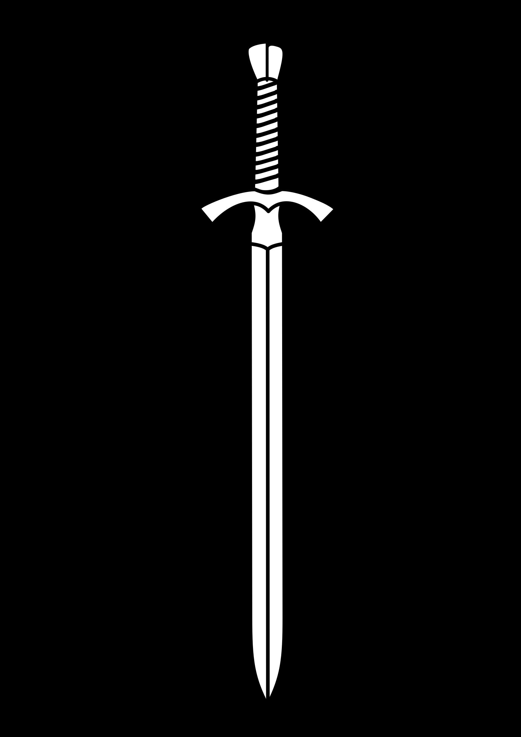 Double edged sword clipart.