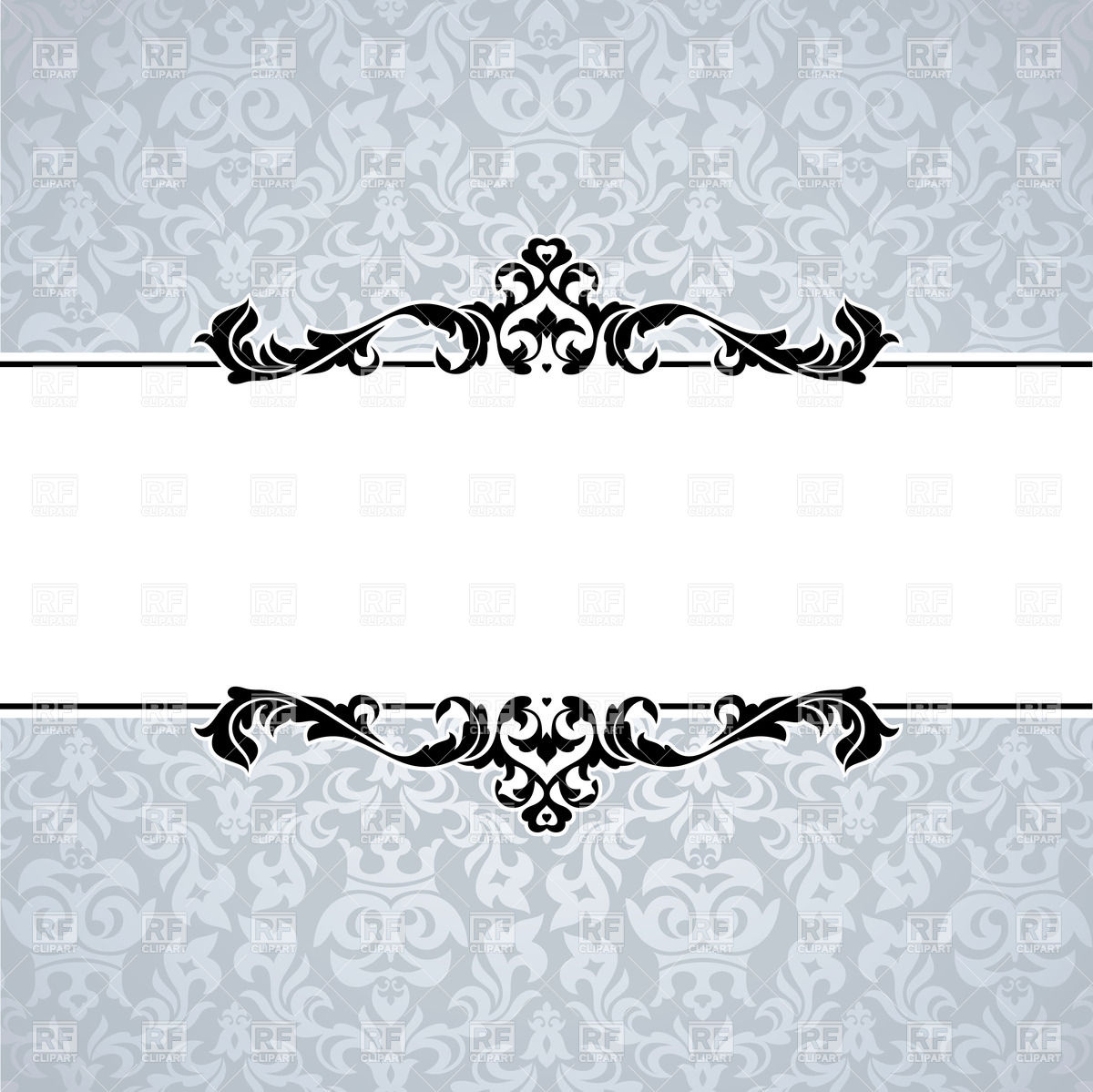Decorative frame with edging of leaves Vector Image #37215.