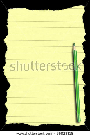 Piece Torn Lined Paper Isolated On Stock Photo 42174334.