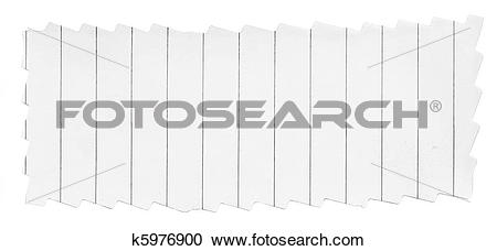Stock Photography of paper banner with frayed edges k5976900.