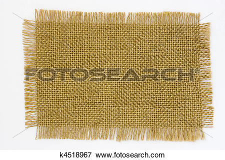 Picture of Burlap canvas with frayed edge on white k4518967.