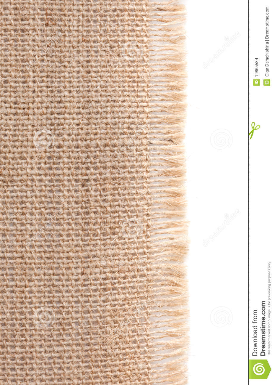Burlap With Frayed Edges Stock Images.