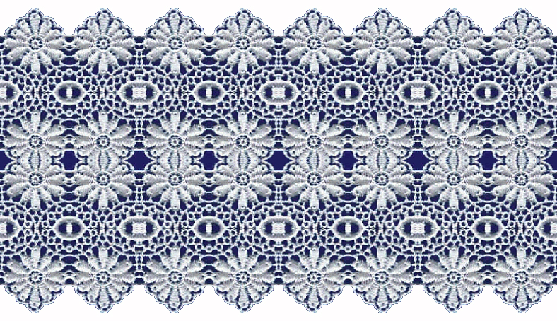 Navy blue lace clipart.