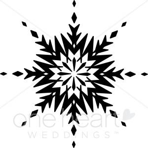 Edgy Snowflake Clip Art.