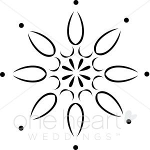 Edgy Snowflake Clipart.