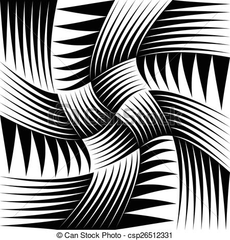 Vectors of Pointed, edgy shapes pattern with swirling effect.