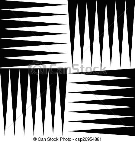 Vector of Black and white pattern of edgy, pointed shapes.