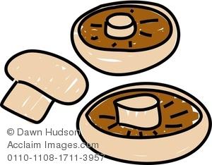 Edible mushroom clipart.