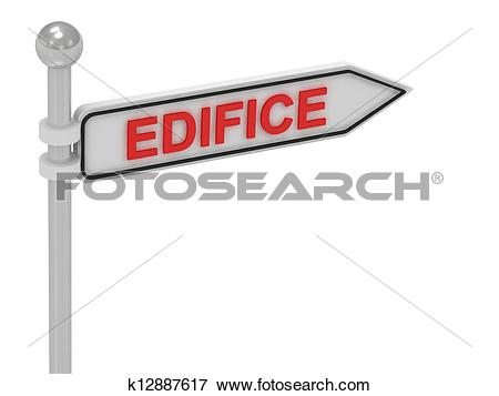 Stock Illustration of EDIFICE arrow sign with letters k12887617.