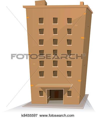 Clip Art of Cartoon Building k8455597.