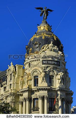 """Stock Photography of """"Metropolis Building or Edificio Metropolis."""