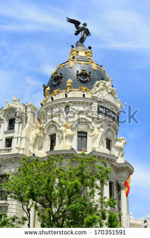 Madrid City Wide Angle Aerial View Stock Photo 152648843.
