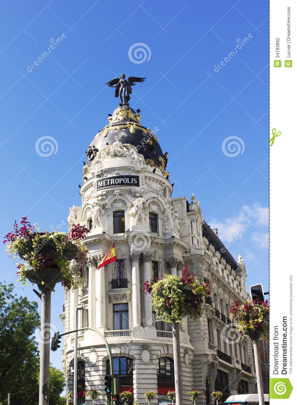 Metropolis Building. Gran Via. Madrid. Spain Stock Photography.