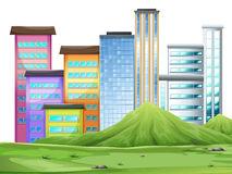 Clipart De Los Edificios De La Ciudad Stock de ilustración.
