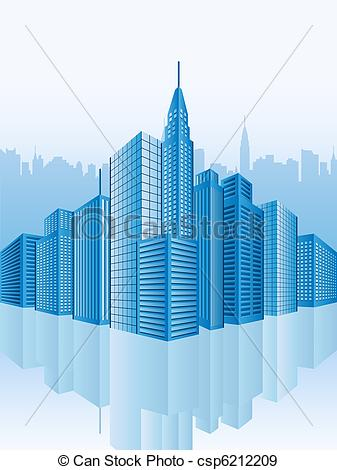 Stock de Ilustraciones de imagen, edificios, oficina.