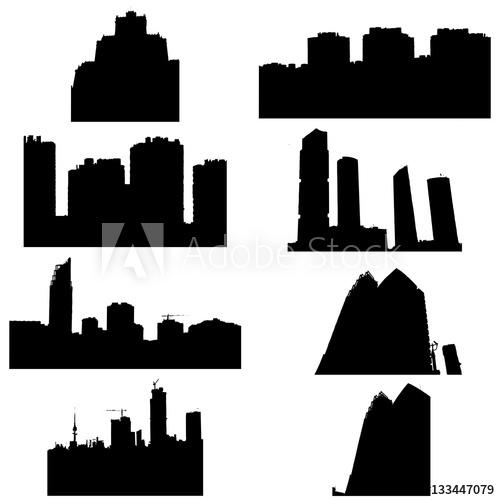 silueta edificios.
