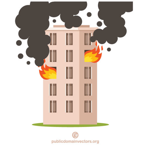 Fire in the building.
