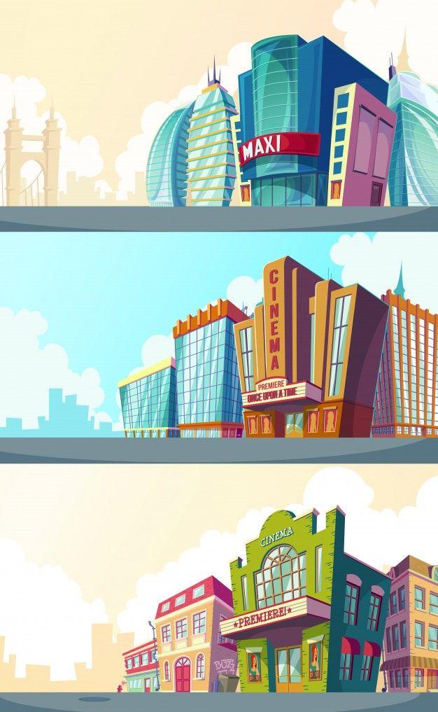 Conjunto de ilustración vectorial de dibujos animados de un.