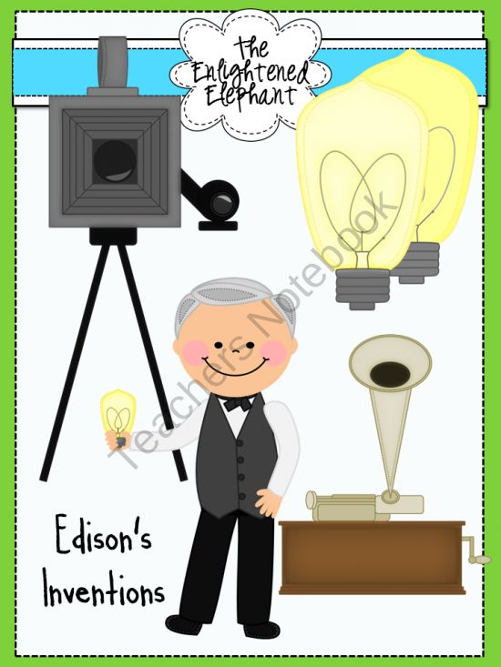 Inventions of Thomas Edison Clip Art product from The.