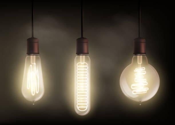 Best Edison Light Bulb Illustrations, Royalty.