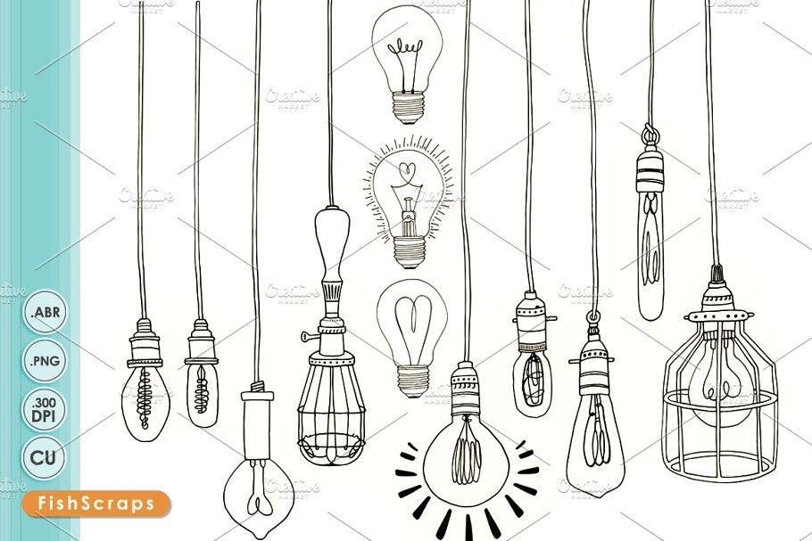Edison Light Bulb Clip Art PNG.
