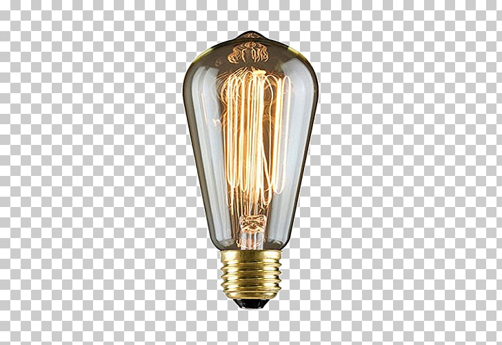 Incandescent light bulb Electrical filament Edison light.