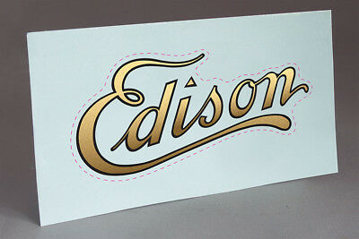 PRE CUT WATER SLIDE DECAL EDISON LOGO FOR CYLINDER.