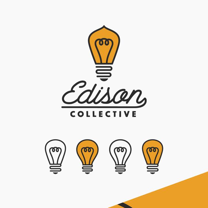 Electrifying hip logo featuring an edison bulb.