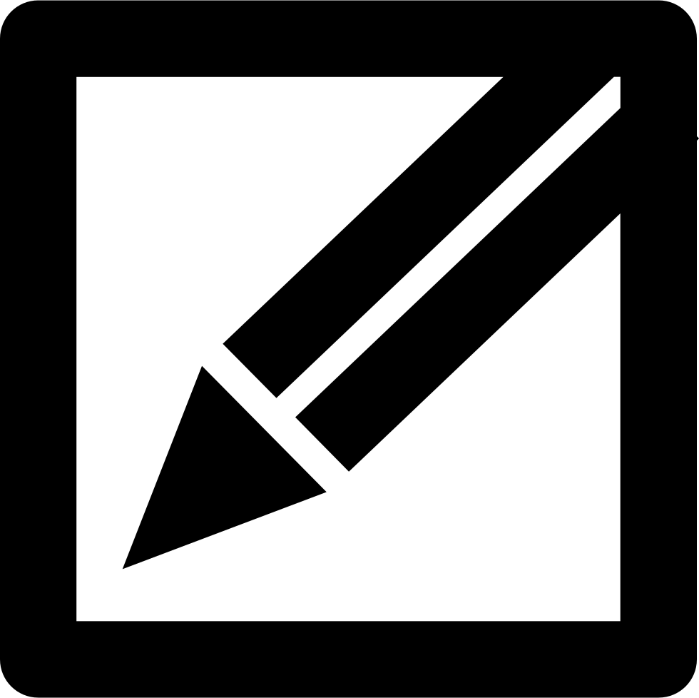 Pencil In A Square Edit Or Write Interface Button Symbol Svg Png.