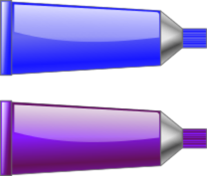 Purple Color Tube Clipart.