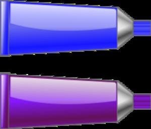 Purple Color Tube Clipart.