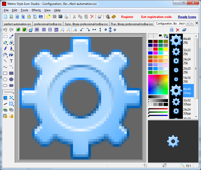 Windows 8 UI Icon Editor.
