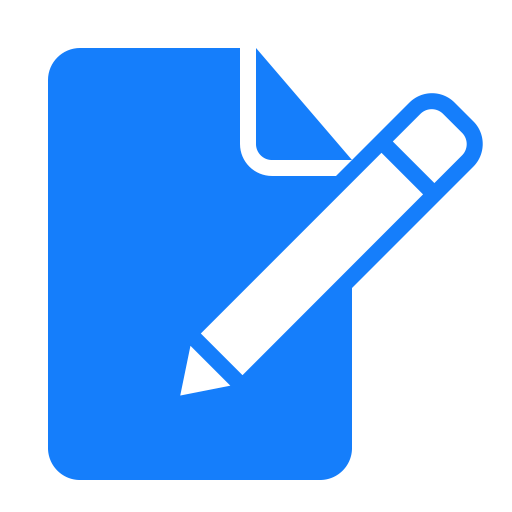 Document, edit icon.