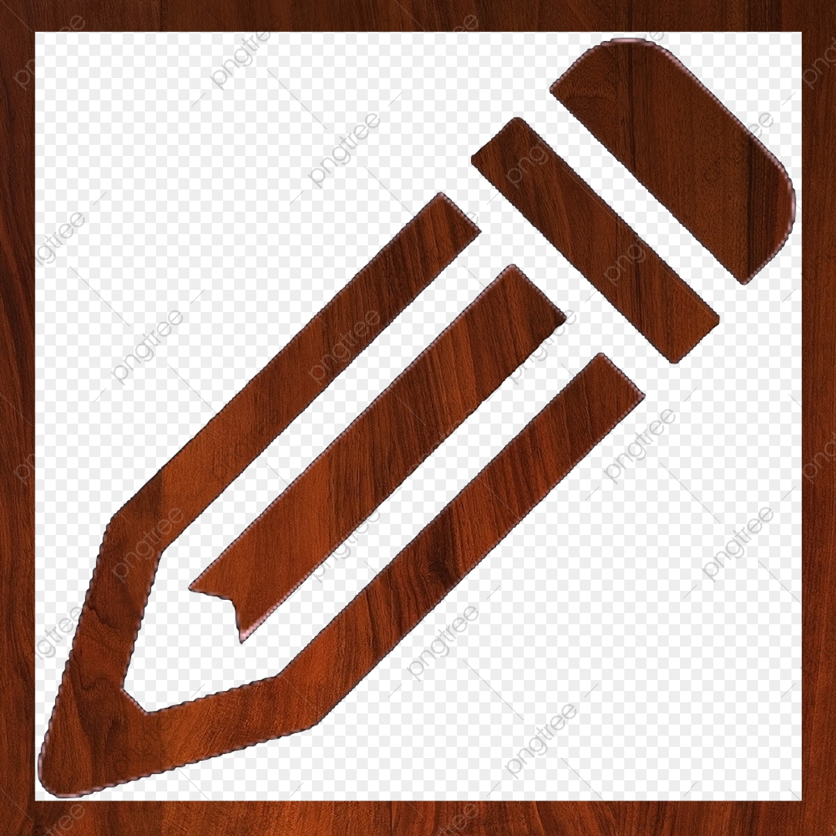 Edit Wood Icon Outline, Edit, Change, Alter PNG Transparent Clipart.