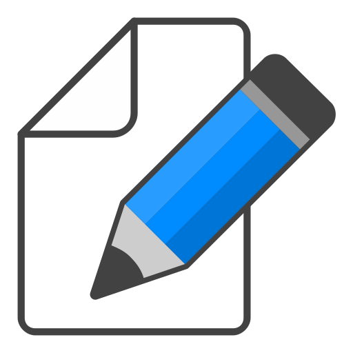 Edit png icon blue pencil #3598.