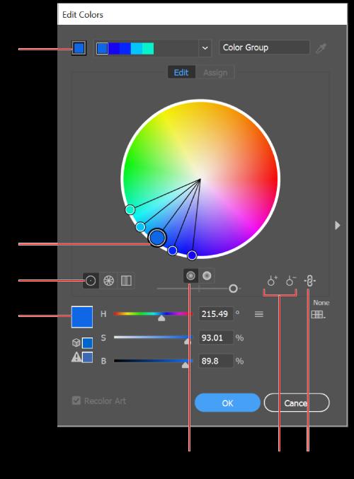 Color options.