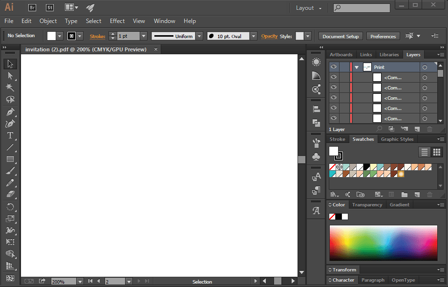 Why Adobe Illustrator Open Any File As White Blank Canvas.