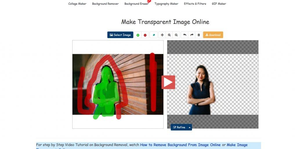 List of Websites to make image background transparent.