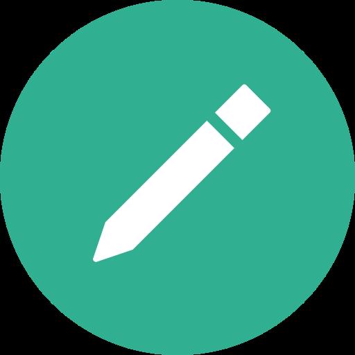 Circle, compose, draw, edit, write icon.